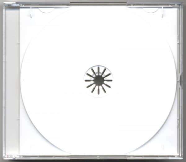 CD Leerbox mit weißem Tray für 2 CDs