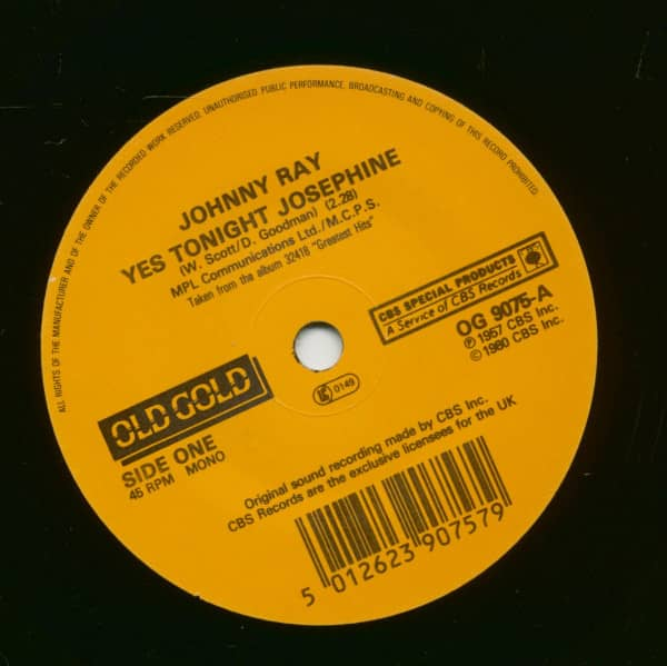 Yes Tonight Josephine - Just Walkin' In The Rain (7inch, 45rpm, SC)