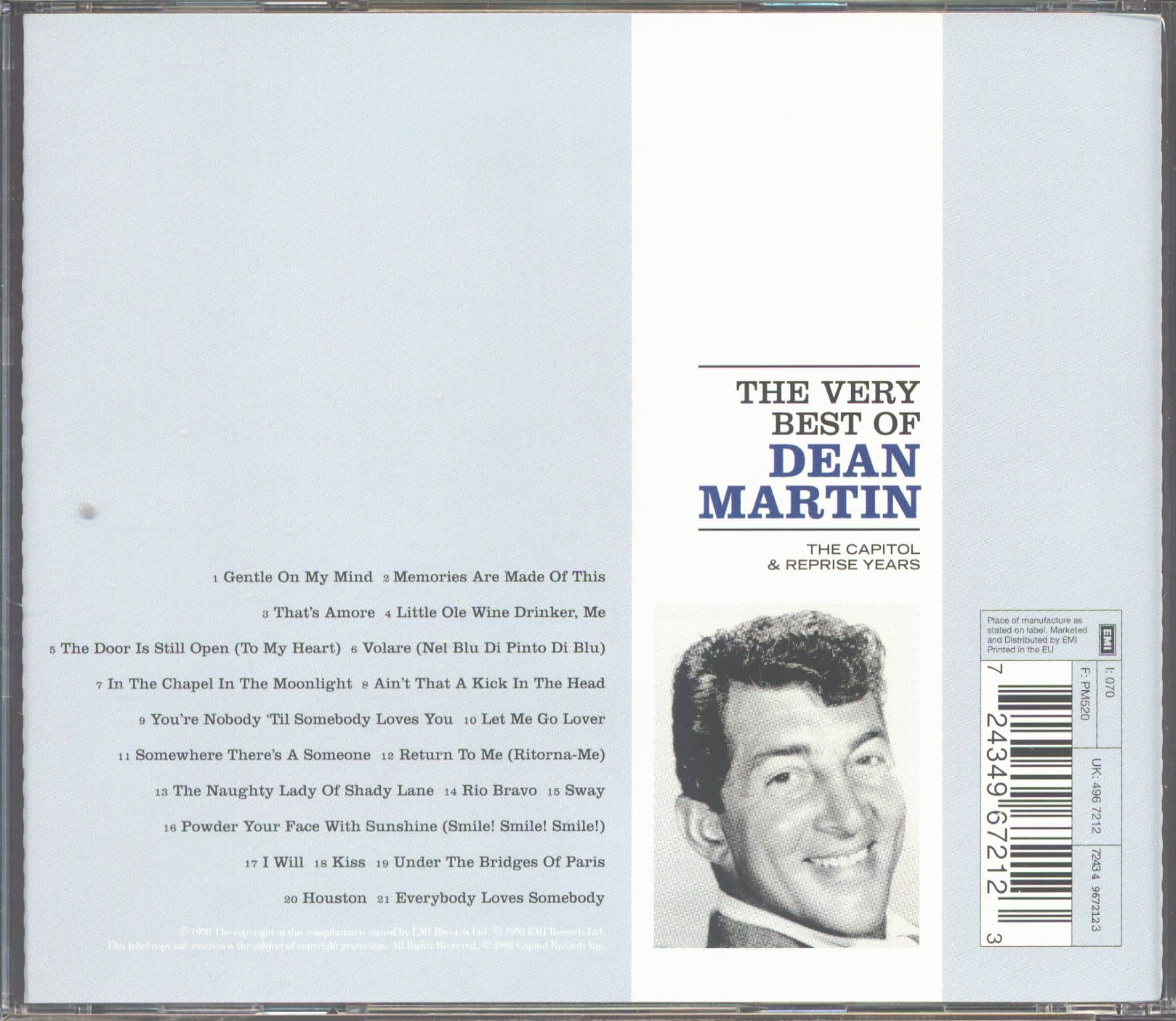 Dean Martin Cd The Very Best Of Dean Martin Capitol
