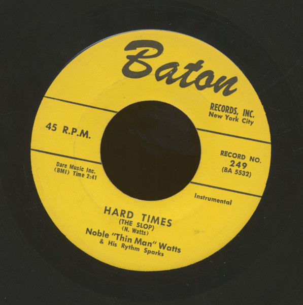 Hard Times (The Slop) - I'm Walkin' The Floor Over You (7inch, 45rpm)