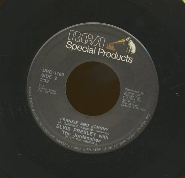 Frankie And Johnny - They Remind Me Too Much Of You (7inch, 45rpm)