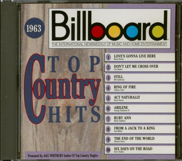 Billboard Top Country Hits 1963 (CD)