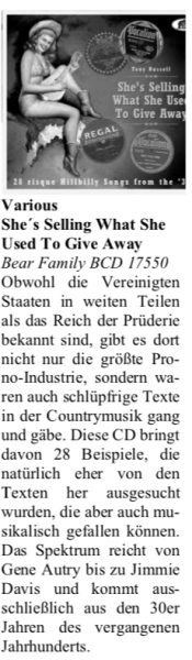 Presse-Archiv-Various-She-s-Selling-What-She-Used-To-Give-Away-Oldie-Markt