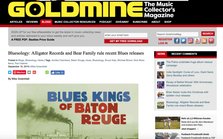 Press-Archive-Various-Artists-Blues-Kings-Of-Baton-Rouge-2-CD-goldmine-mag