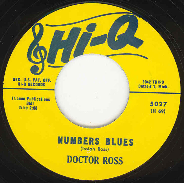Numbers Blues b-w Cannonball 7inch, 45rpm