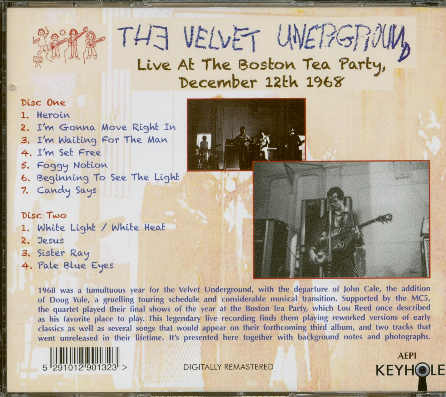 The Velvet Underground Cd Live At The Boston Tea Party