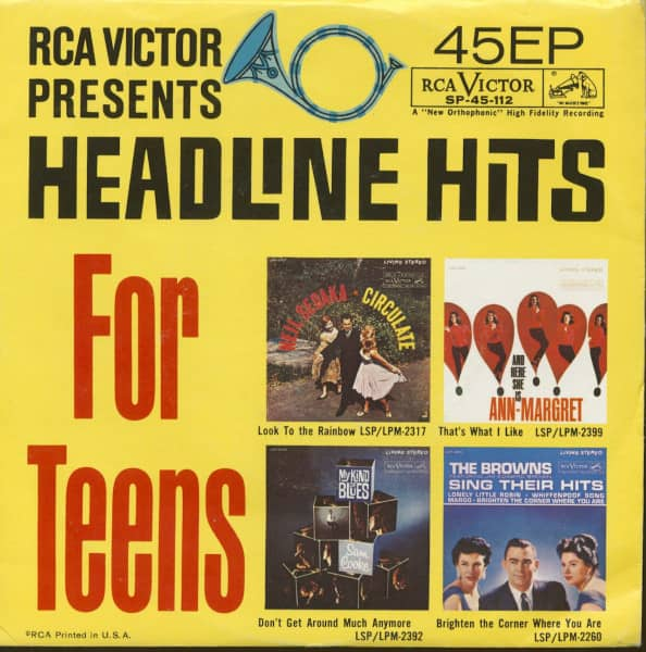 Headline Hits For Teens (7inch, 45rpm, EP, PS)