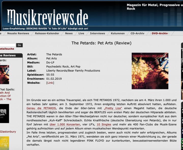 Presse-Archive-The-Petards-Pet-Arts-2-LP-Musikreviews-de