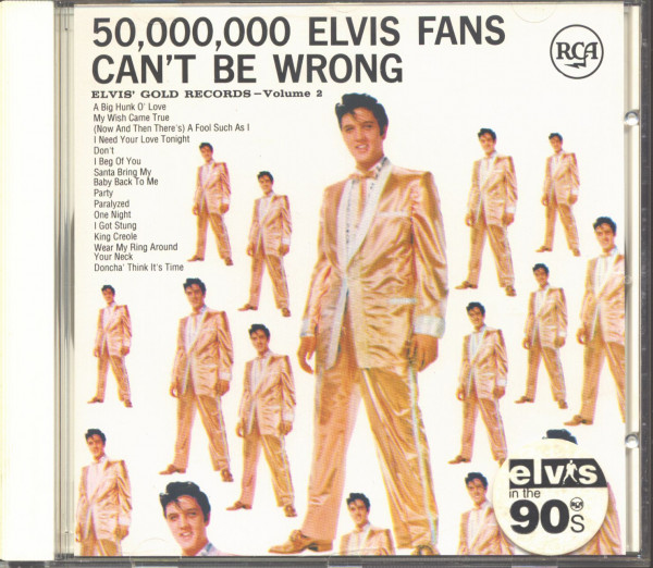 50.000.000 Elvis Fans Can't Be Wrong - Elvis' Gold Records Vol.2 (CD, EU Version)