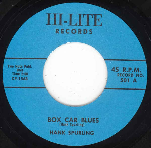 Box Car Blues - I'm In Debt 7inch, 45rpm