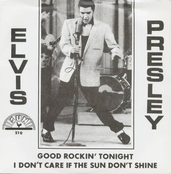 Good Rockin' Tonight - I Don't Care If The Sun Don't Shine, 45rpm, PS, red vinyl