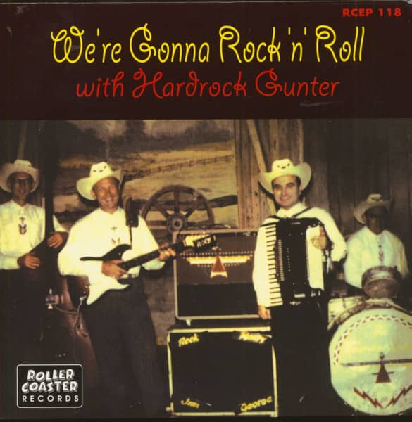 We're Gonna Rock & Roll with Hardrock Gunter (7inch, 45rpm, EP, PS, BC)