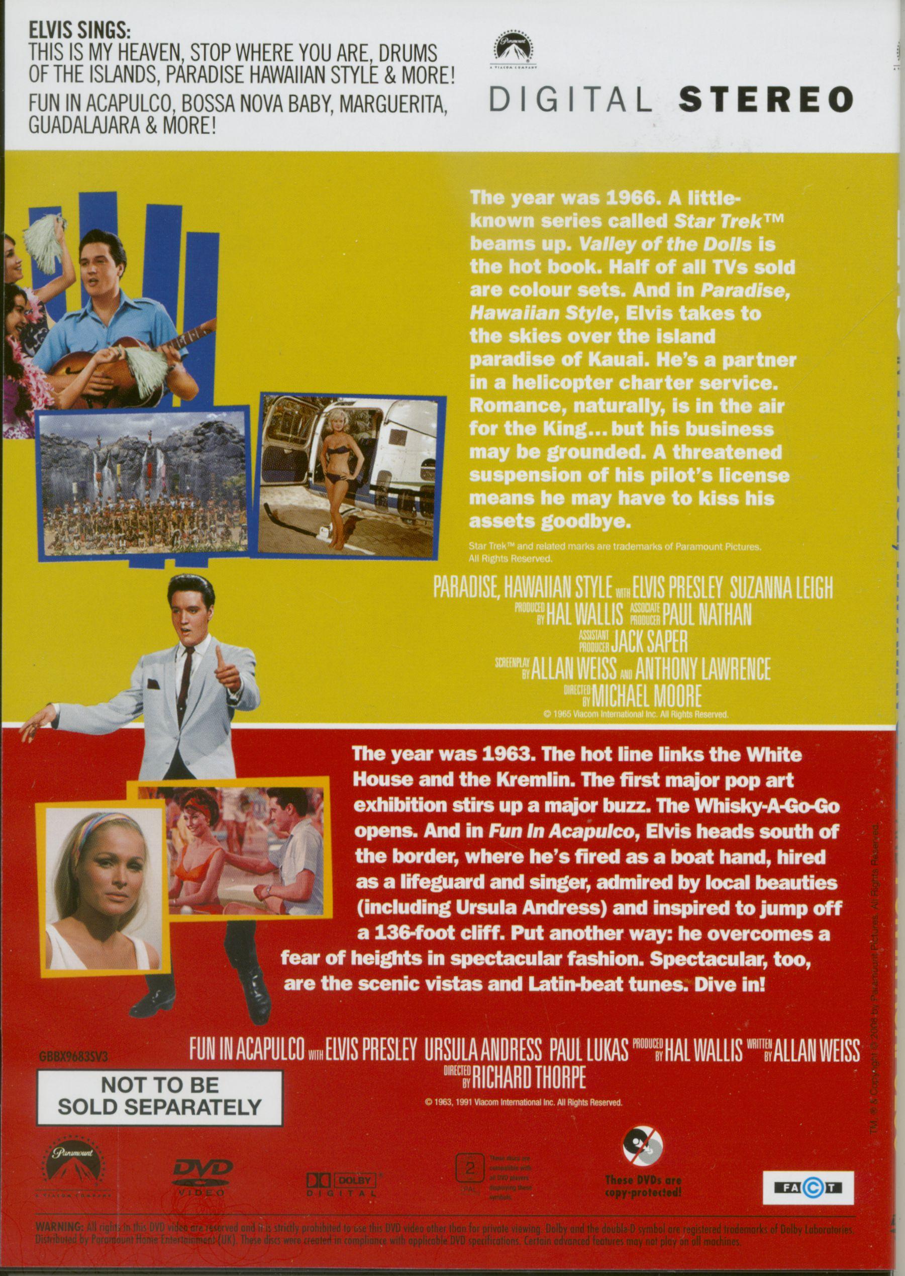 Elvis Presley Dvd Elvis At The Movies 8 Dvd Bear