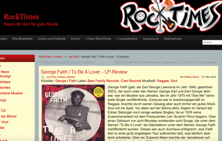 Presse-Archiv-George-Faith-To-Be-A-Lover-180g-Vinyl-rocktimes