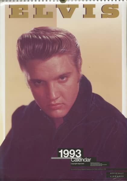 Elvis - Official 1993 Culture Shock Calendar