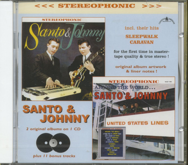 Santo & Johnny - Around The World...plus (CD)