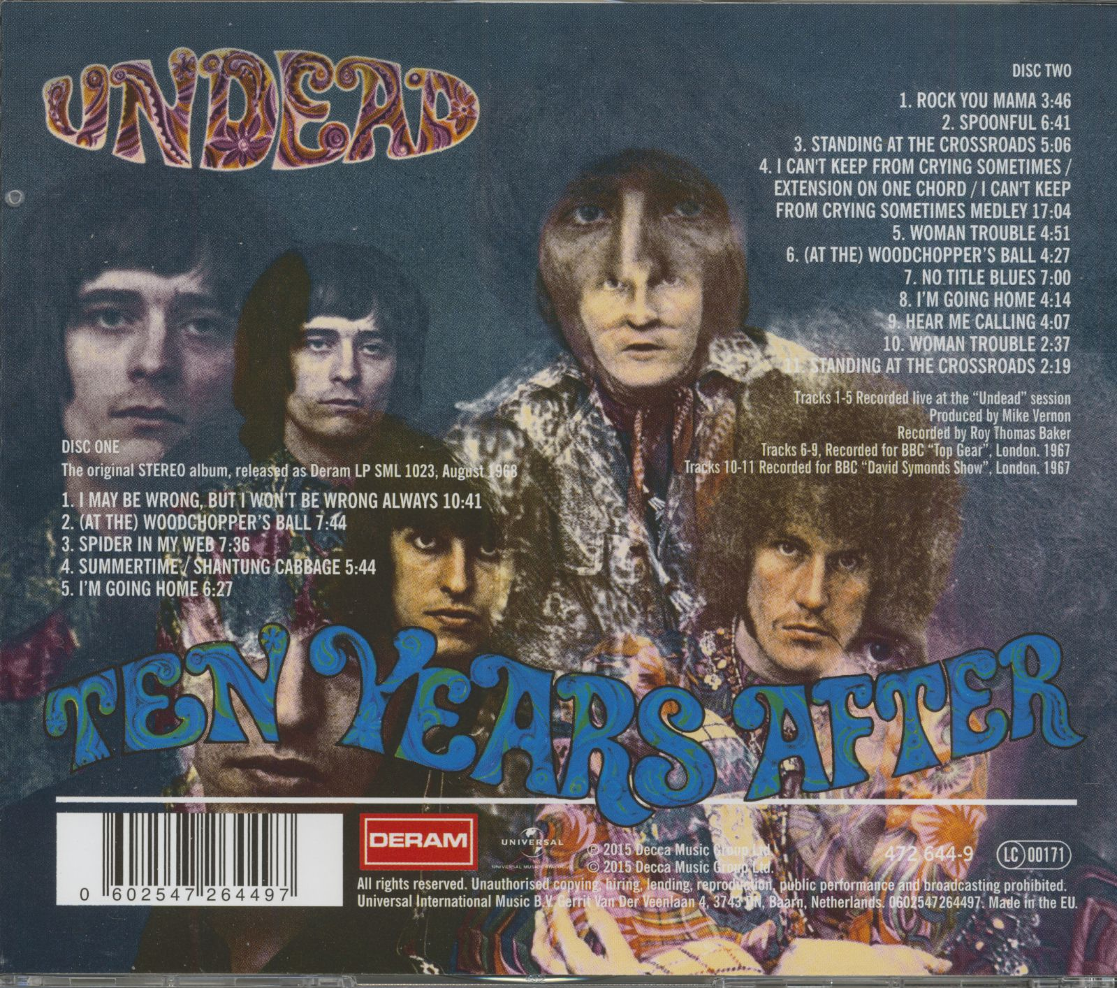 Ten Years After Cd Undead Bear Family Records