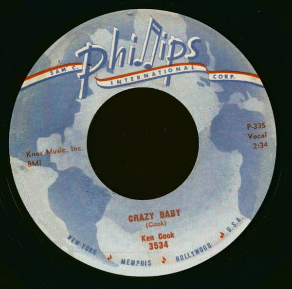 Crazy Baby - I Was A Fool (7inch, 45rpm)