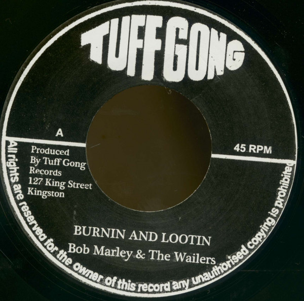 Burnin And Lootin B - Rastaman Chant (7inch, 45rpm, BC)