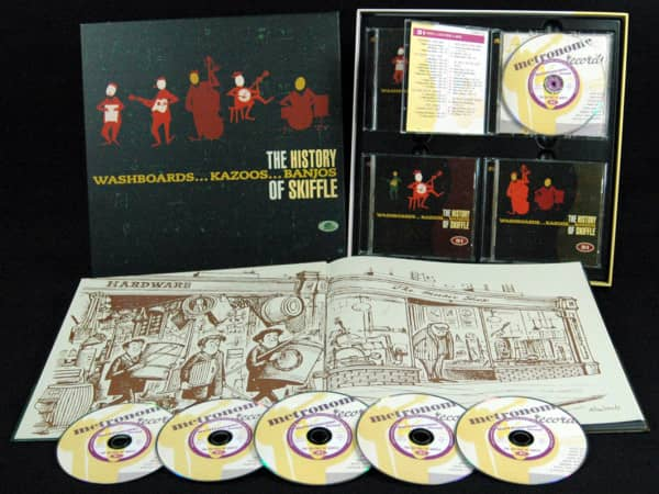 The History Of Skiffle 6-CD Box 88-Page Book