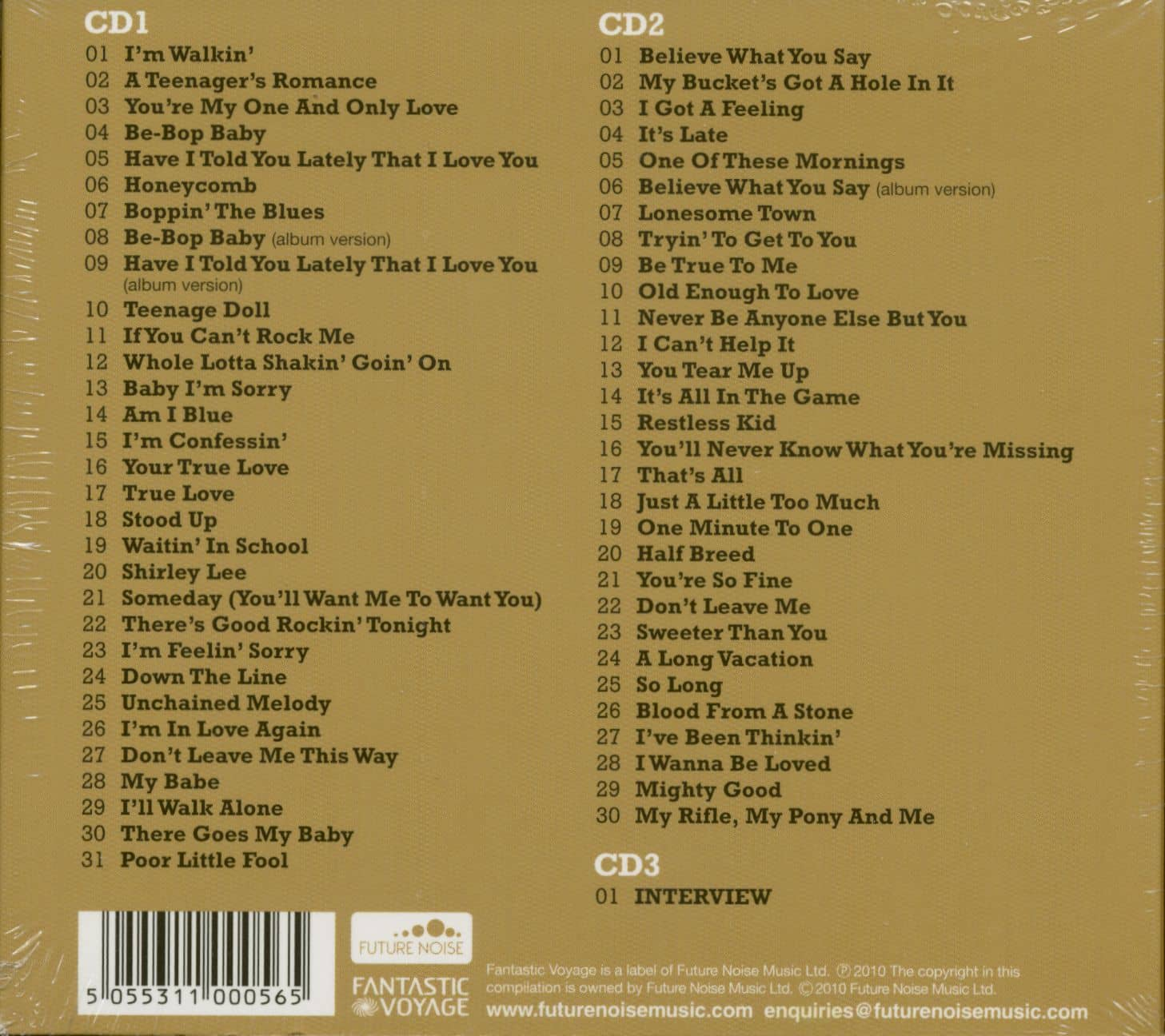 Ricky Nelson CD: Lonesome Town (3-CD ...