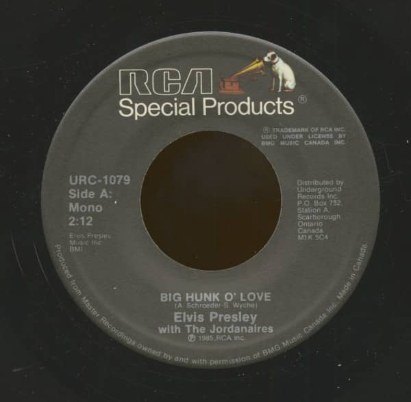 A Big Hunk O' Love - My Wish Came True (7inch, 45rpm)
