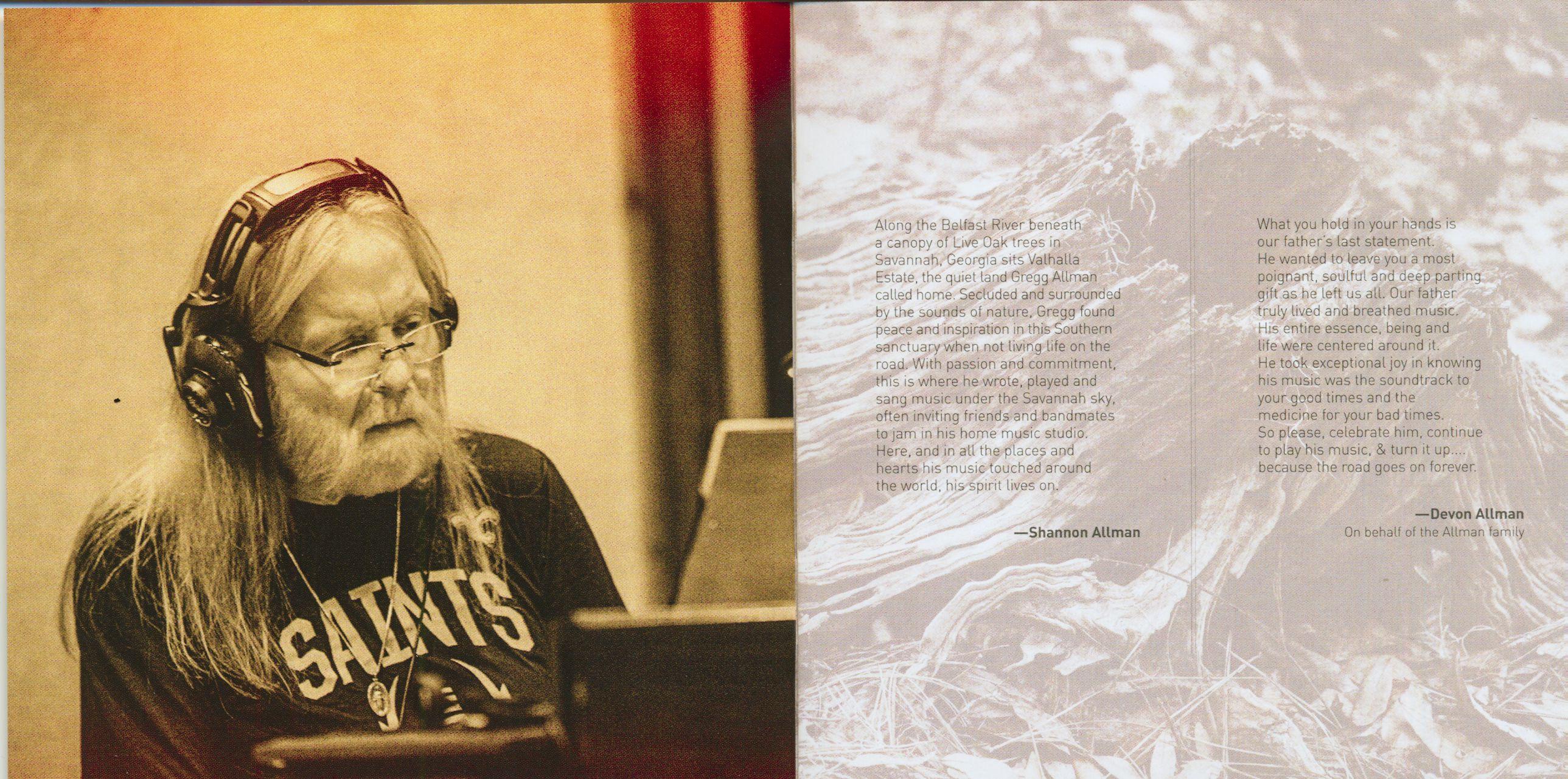 Gregg Allman Cd Southern Blood Cd Dvd Bear Family Records