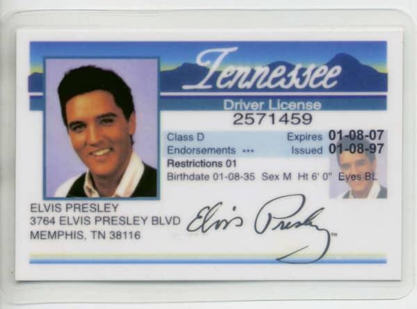 Elvis Driver License