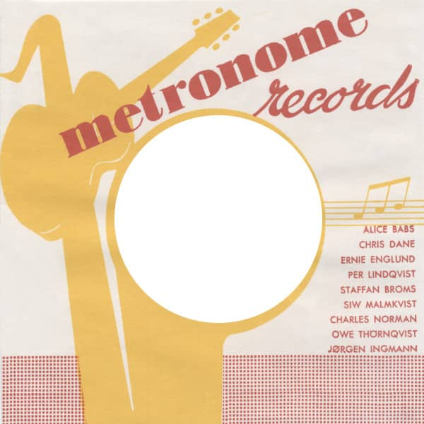 (10) Metronome 2 - 45rpm record sleeve - 7inch Single Cover
