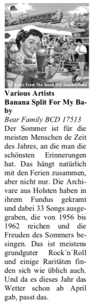 Presse-Archiv-Banana-Split-For-My-Baby-33-Gems-From-The-Good-Old-Summertime-Oldie-Markt