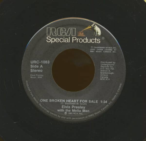 One Broken Heart For Sale - U.S. Male (7inch, 45rpm)