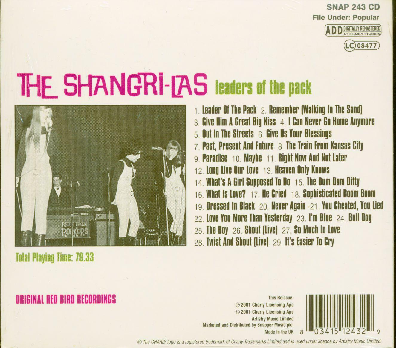The Shangri Las Cd Leaders Of The Pack Cd Bear Family