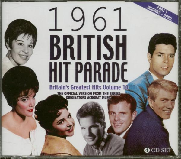 The 1961 British Hit Parade - Britain's Greatest Hits Volume 10 - Part 1 (4-CD)