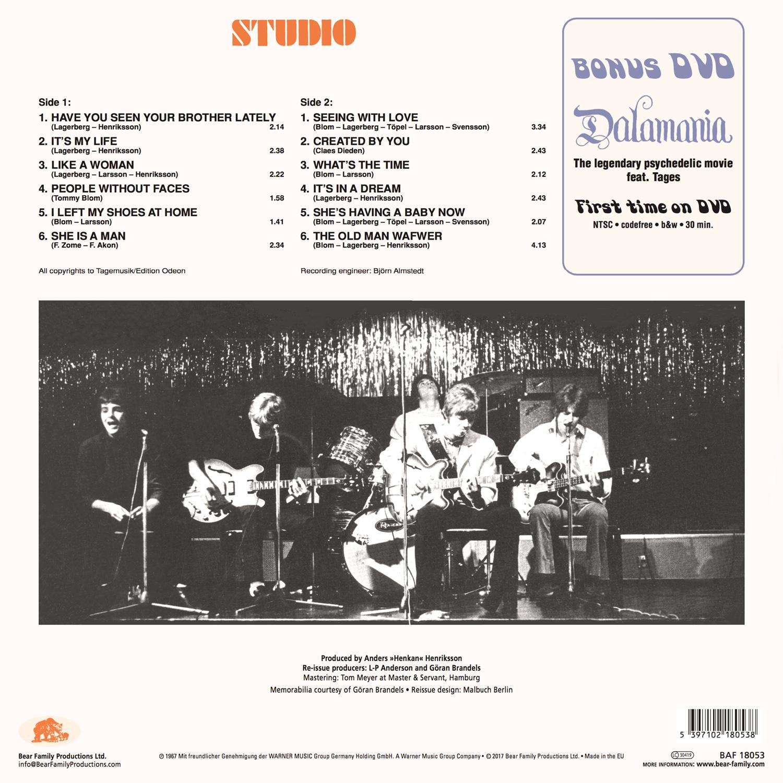 Tages Lp Studio 180g Vinyl Amp Dvd Bear Family Records