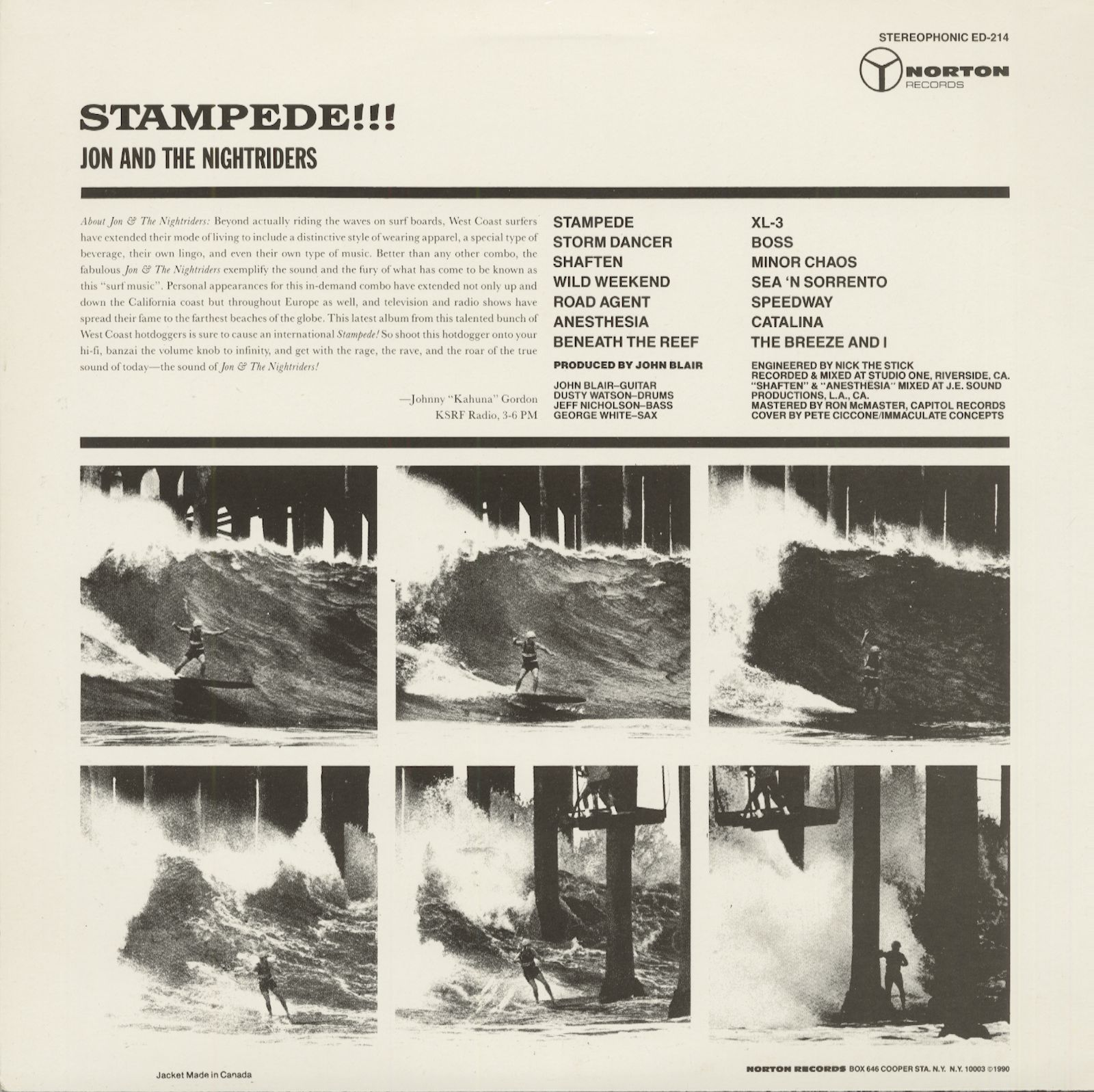 Jon Amp The Nightriders Lp Stampede Bear Family Records