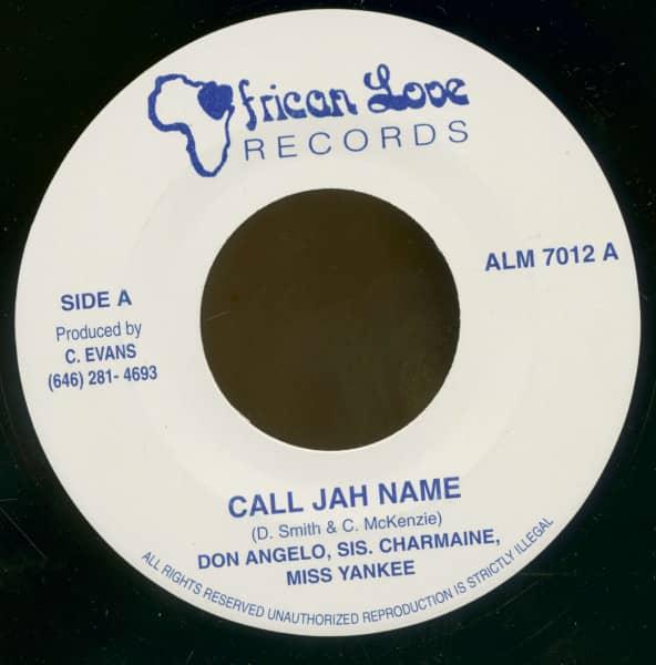 Call Jah Name - Call Jah Name (Version) (7inch, 45rpm, BC)