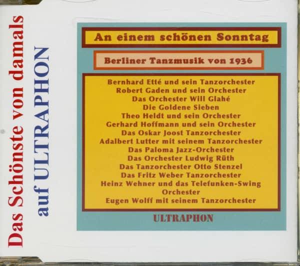 Berliner Tanzmusik von 1936 - Das Schönste Von Damals (CD)