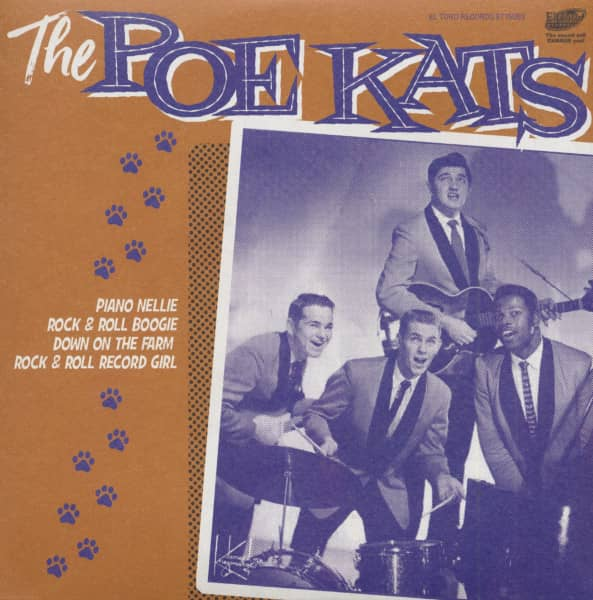 The Poe Kats (7inch, 45rpm, EP, Orange Vinyl, PS)
