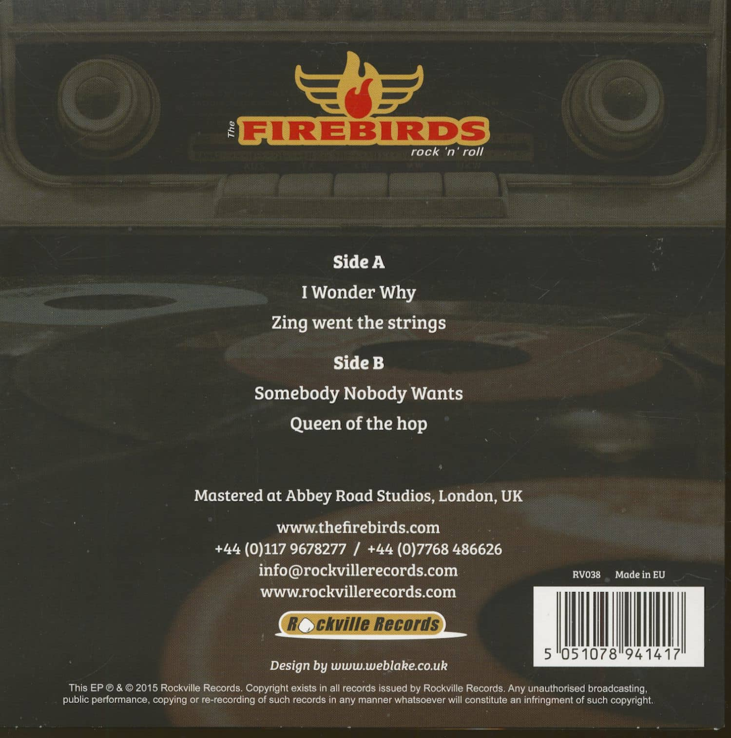 The Firebirds 7inch High Fidelity 7inch 45rpm Ps