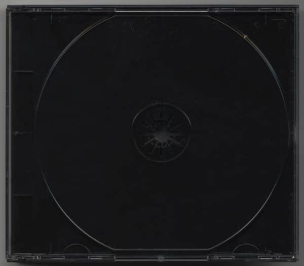 CD Leerbox mit schwarzem Tray für 2 CDs