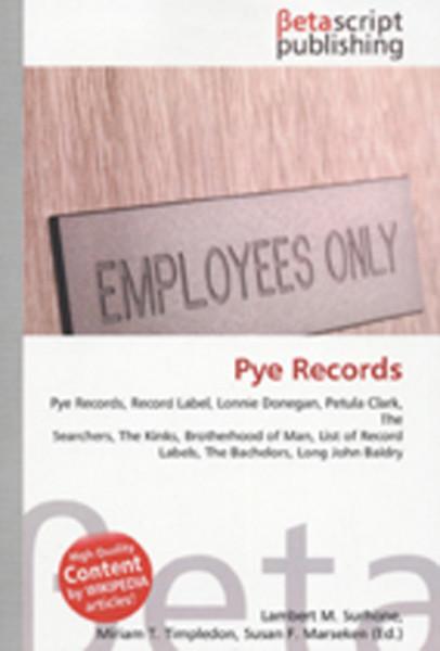 Pye Records - Betascript Publishing (Wikipedia Articles)