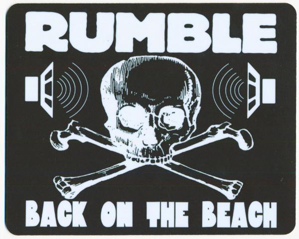 Rumble On The Beach - Mousepad (b&w 24x19cm)