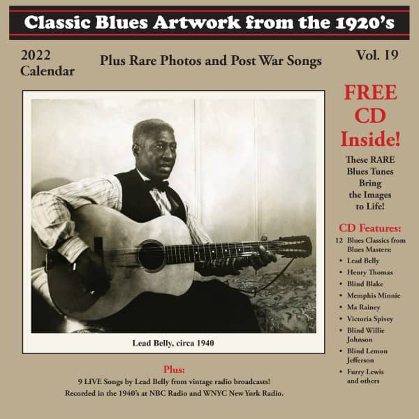 2022 Blues Calendar (with free CD)