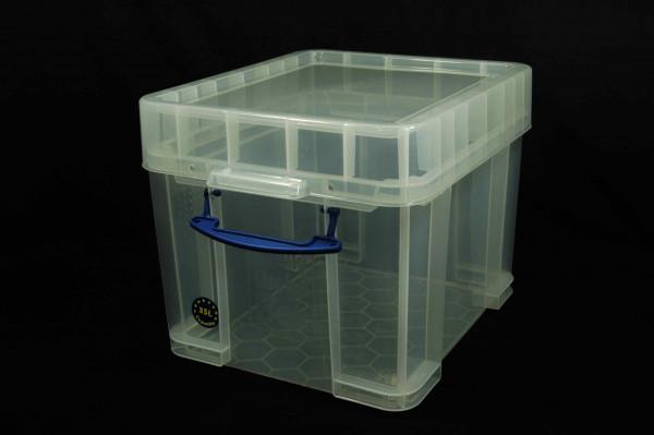 LP Schallplatten Box aus transparentem Kunststoff