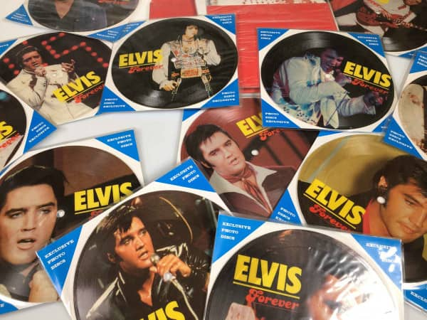 Elvis Forever - 12 Picture Disc Set - 12 Soundcards 45rpm & Display