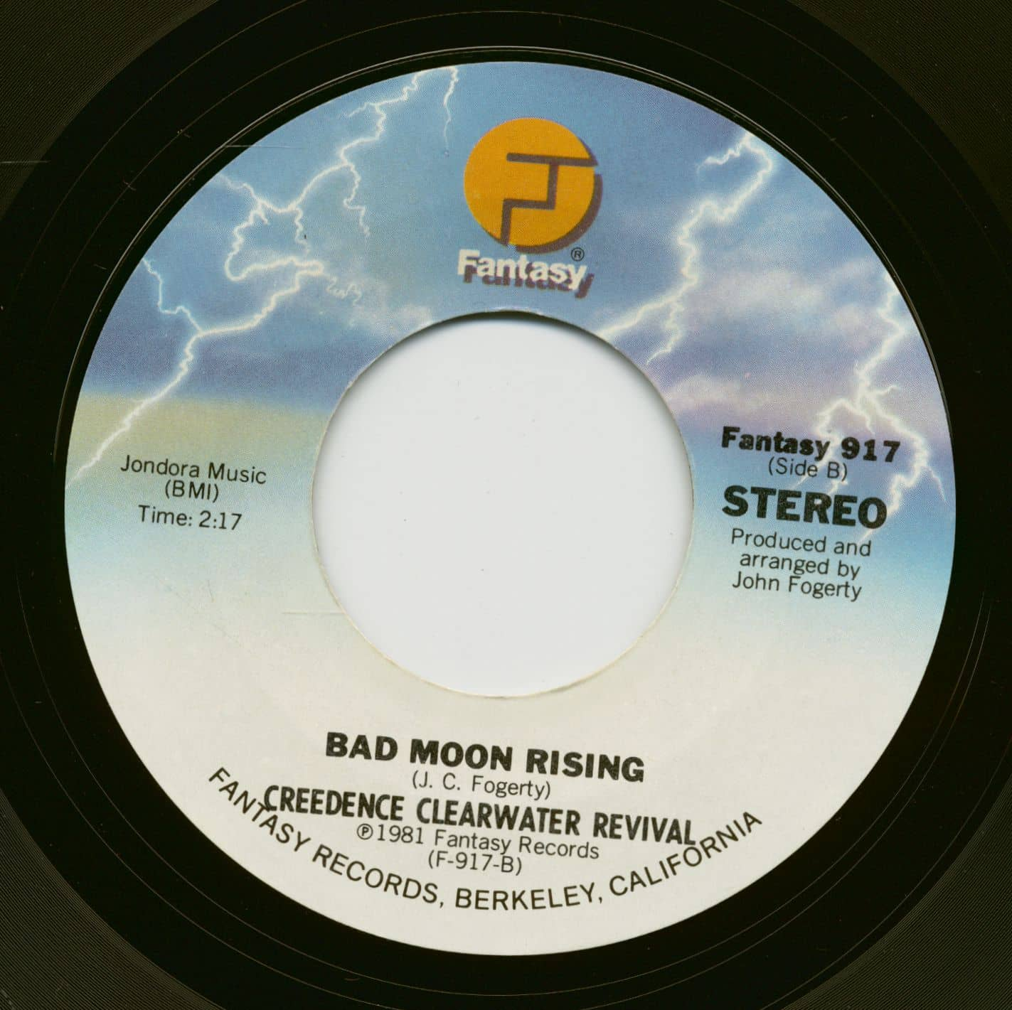 Creedence Clearwater Revival Medley U.S.A.   Bad Moon Rising 20inch, 20rpm