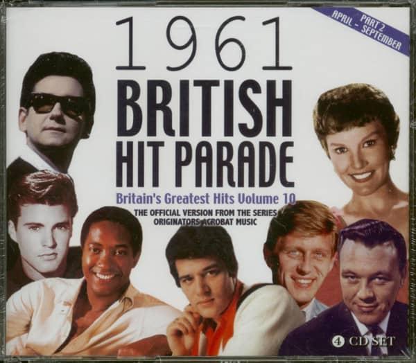 1961 British Hit Parade - Britain's Greatest Hits Volume 10 - Part 2 (4-CD)