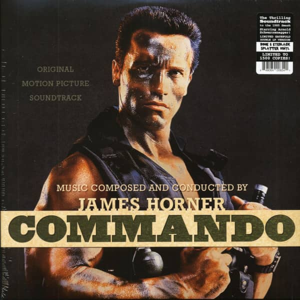 Commando - Original Motion Picture Soundtrack (2-LP, Bone-Eyeblack Splatter Vinyl, Ltd.)