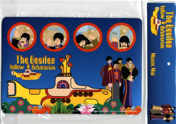 Mousemat - Yellow Submarine - (18cm x 26cm)