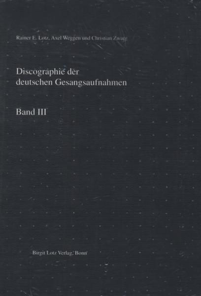 Deutsche Gesangsaufnahmen - Vol.3, Discographie - Manfred Weihermüller
